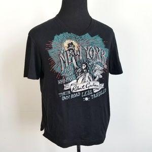 Robert Graham Cotton New York City Print T Shirt